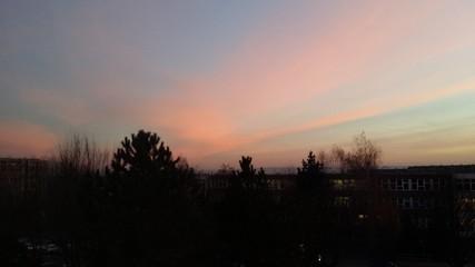 Sonnenaufgang Dresden Gorbitz
