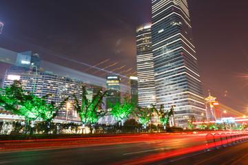 shanghai lujiazui finance and trade zone Night view