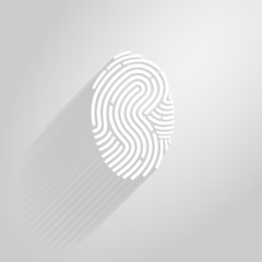 Letter S logo icon fingerprint style and long shadow
