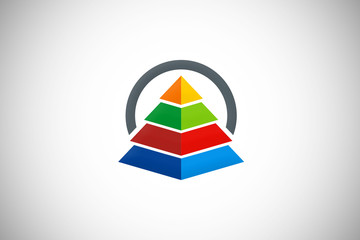 pyramid graph finance construction logo