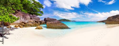 Panorama of tropical beach scenery, Thailand