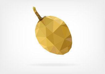 Low Poly Sapodilla fruit