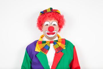 clown mit neutralem blick