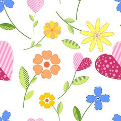 Seamless design with flowers