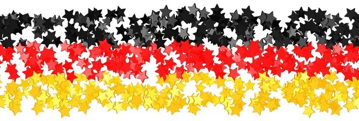 Sterne in den Farben der deutschen Flagge