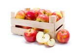 Fototapety Ripe apples in wooden carte