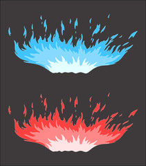 Blue red fire