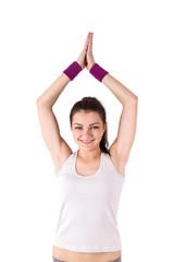 woman yoga lotus