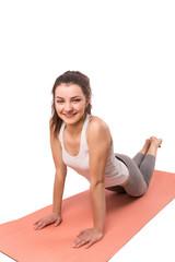 woman aerobics mat