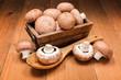 canvas print picture - Fresh brown champignons