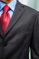 Businessman's necktie