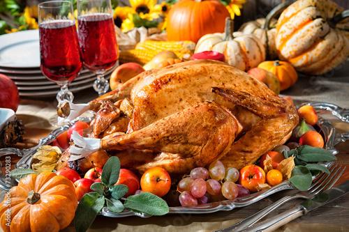 canvas print picture Thanksgiving turkey