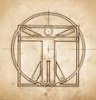 Technical Minimalistic Vitruvian Man
