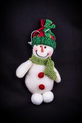 snowman on black background