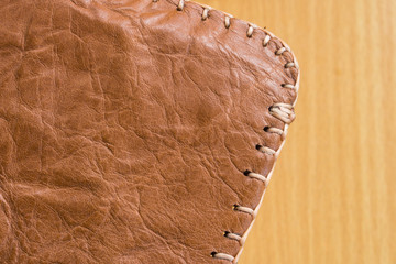 texture from old leather