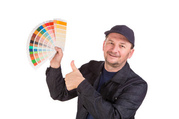 Man Holding Color Palette