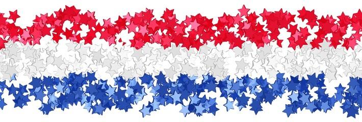 Sternenfeld in den Farben der niederländischen Flagge
