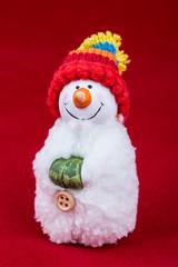 snowman red background