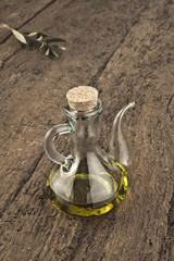 Olive oil in glass jar