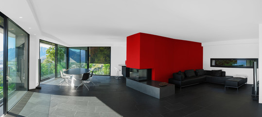 Modern living room panoramic