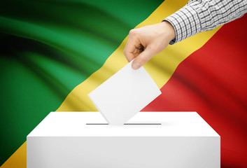 Ballot box with national flag - Republic of the Congo