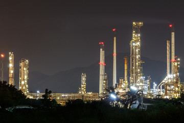 oil refinery plant, factory