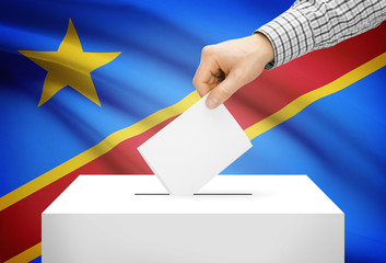 Ballot box with national flag - Democratic Republic of the Congo