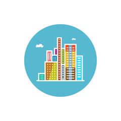 Modern buildings  icon, city icon,  vector illustration