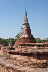 Thai pagoda ruins in Thailand