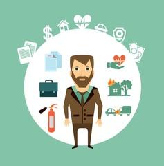 insurance agent illustration