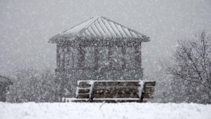 Park Bench, Snow, Winter