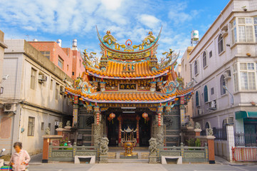 traditional chinese temple in Kinmen, Taiwan