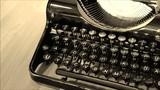 Close up Video Retro Schreibmaschine