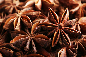 Stars anise close up