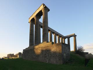 The National Monument of Scotland on Calton Hill, Edinburgh.