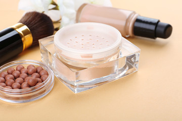 Basic make-up products, close-up