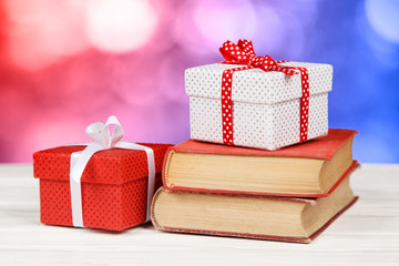 Books and gift boxes