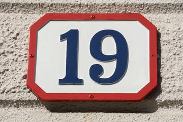 Number nineteen