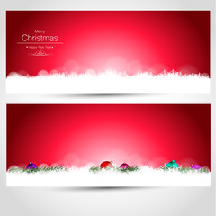 Christmas Cards Pink and Red