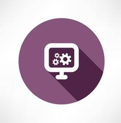 gear monitor icon