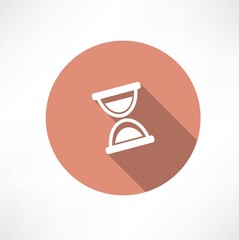Hourglass vector icon