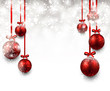 Background with red christmas balls. - 73293890