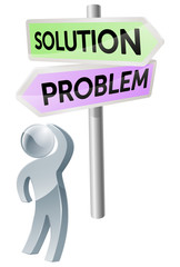 Problem or solution decision