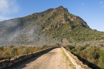 Sardegna, Villasalto, ponte sul rio s' Acqua Callenti