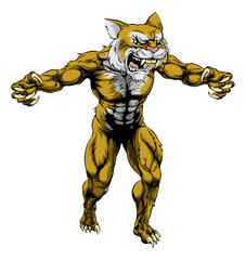 Wildcat scary sports mascot