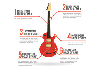 Electric guitar icon vector infographic