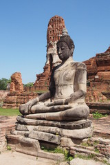 Buddha remains at the archaeological site in Thailand