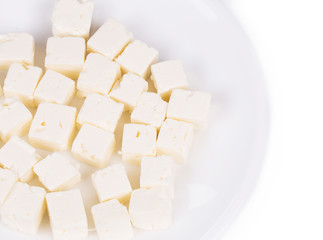 Tasty soft cheese closeup