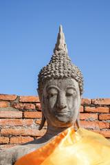 aligned buddha statues at Wat Yai Chaimongkol Ayutthaya