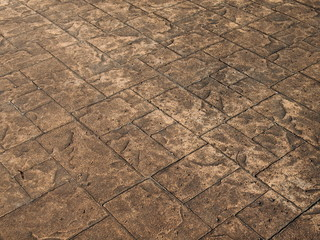 茶色い石畳